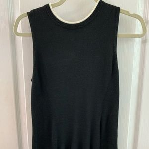 Kaari Blue black sweater with ivory small, NWT